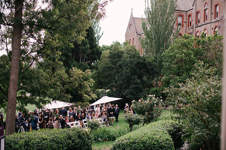 Melbourne garden wedding ceremony | abbotsford convent