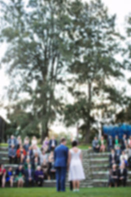 wedding photography at Footscray amphitheater