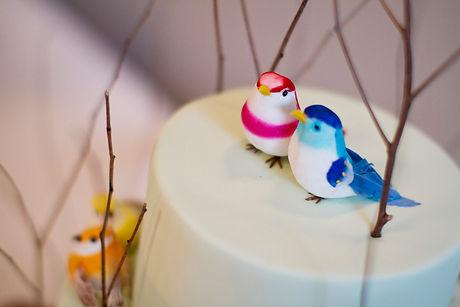 wedding cake with birds, melbourne