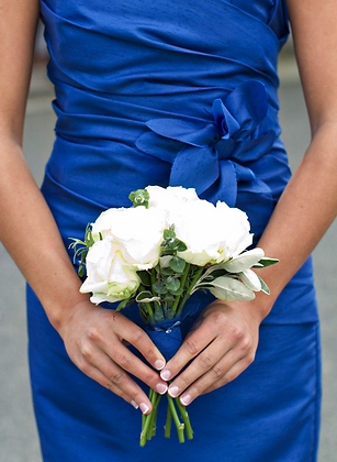 Melbourne wedding colours - blue and white