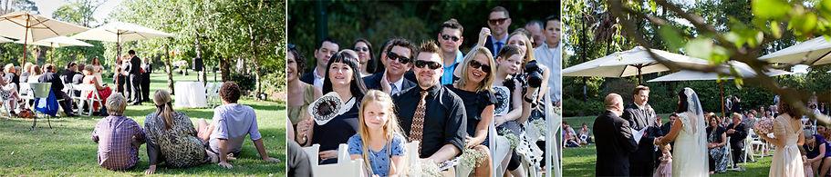 Melbourne casual garden wedding ceremony, fitzroy gardens