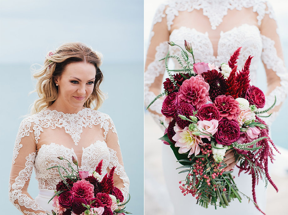 Geelong wedding, lace dress