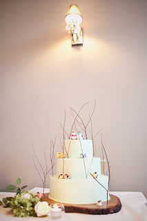 Melbourne wedding cake with birds and twigs