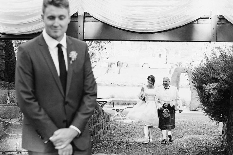 Melbourne outdoor wedding ceremony, footscray