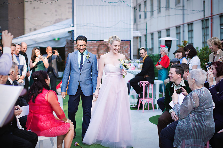 rooftop unique wedding in Melbourne