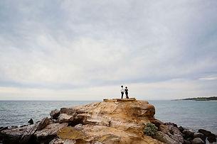 Natural pre wedding engagement photo of couple in Melbourne, mornington peninsula lifestyle wedding photographer