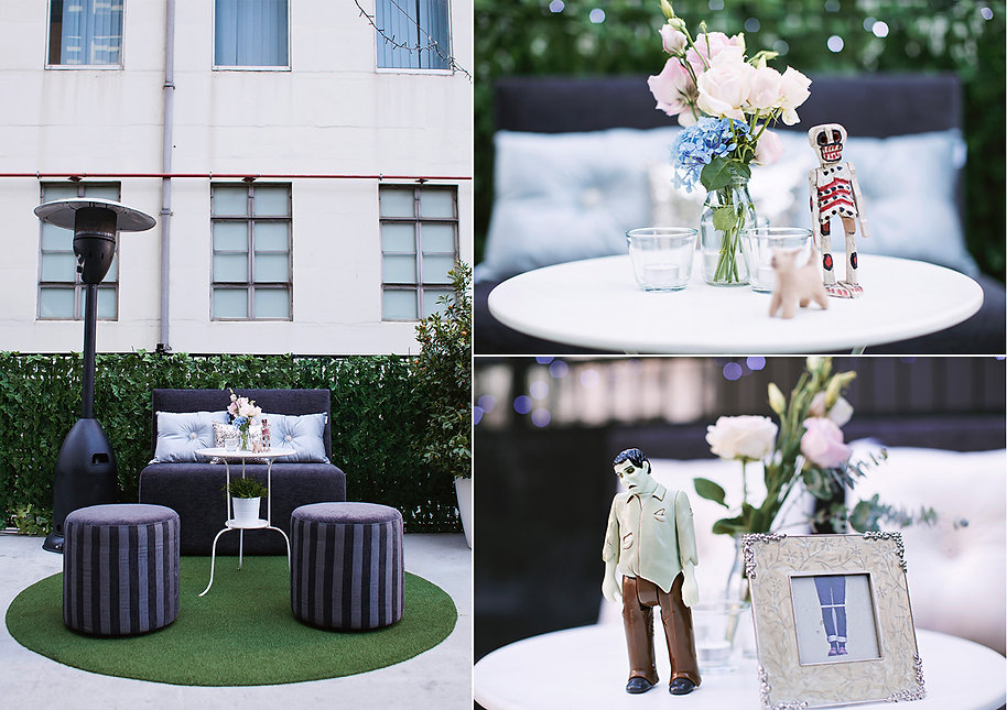 Melbourne wedding styling - seating