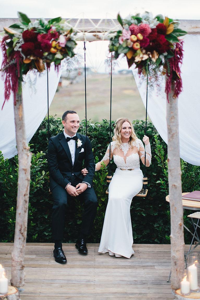 bride and groom swings, melbourne