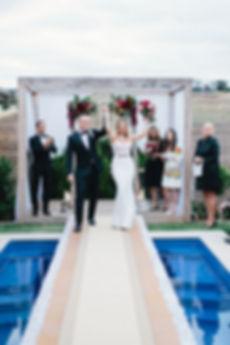 aisle over pool, Melbourne wedding