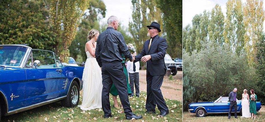 Outdoor wedding ceremony in Daylesford
