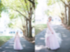 unique wedding Melbourne bride in pink dress