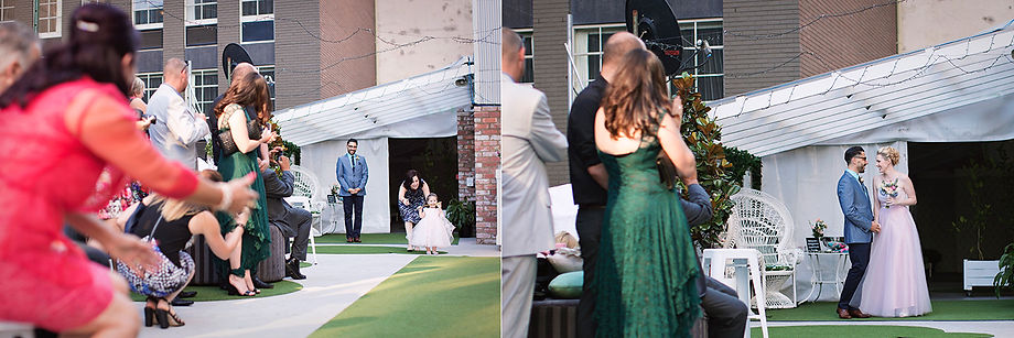 Untraditional wedding - Melbourne rooftop