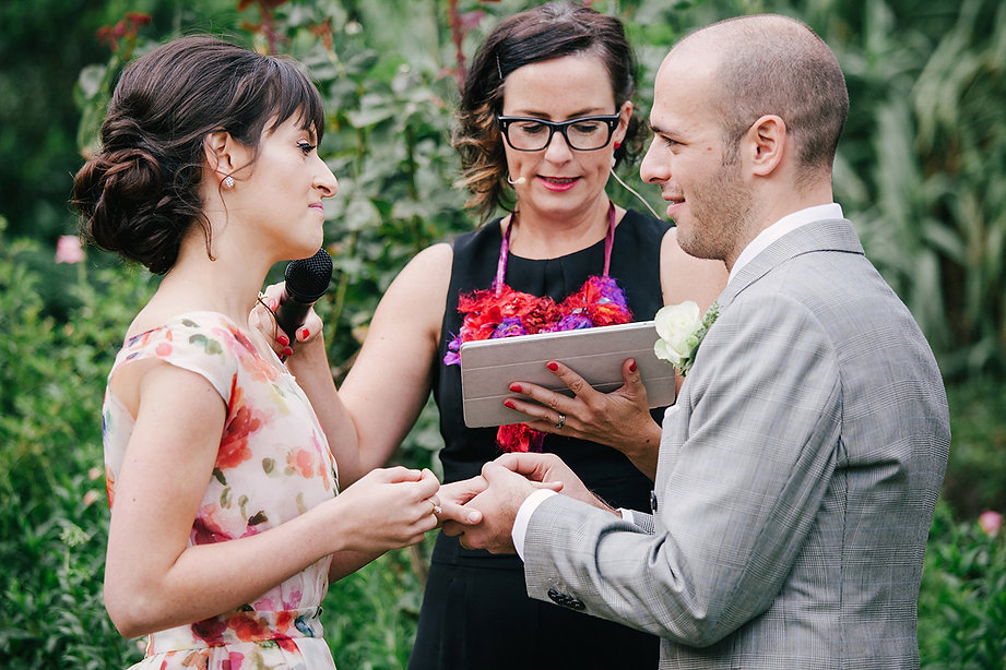 Outdoor wedding ceremony in Daylesford