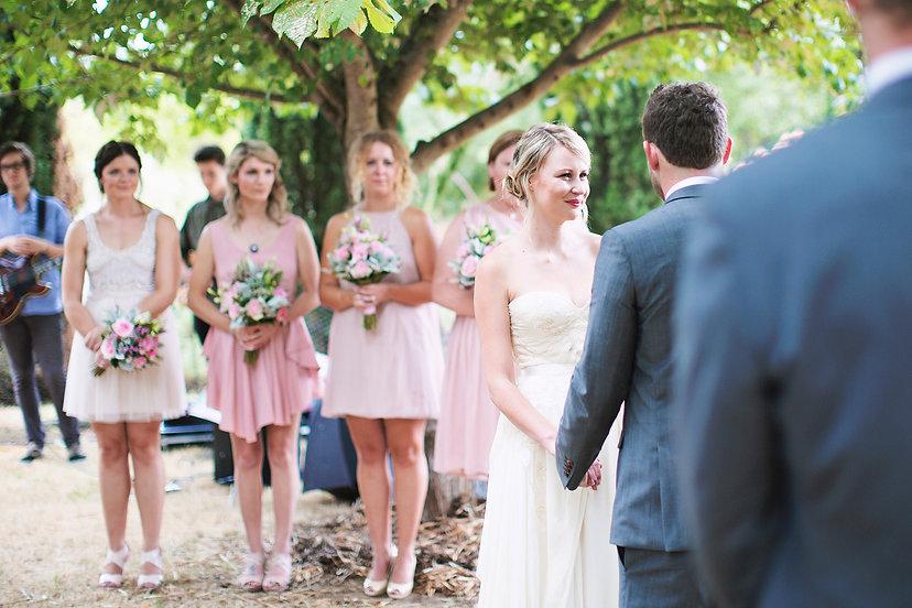 intamite wedding ceremony, Daylesford Vic