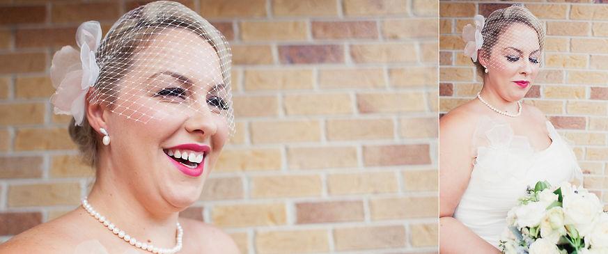 Melbourne holywood glam bride with birdcage veil