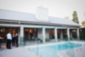 Melbourne Wedding ceremony around a pool