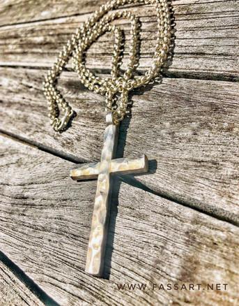 Erbskette mit Kreuz-Anhänger