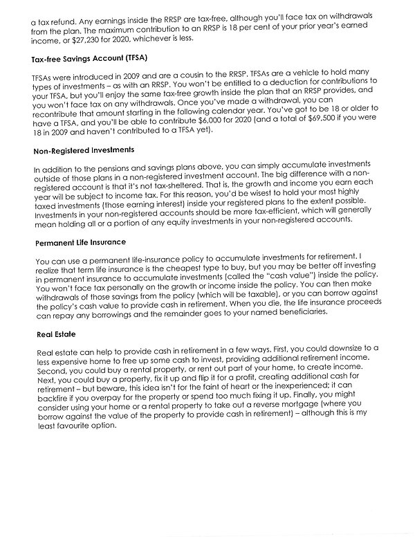 8 aspects to Retirement Planning pg 2.jp