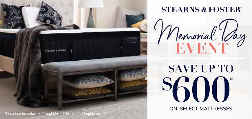 Stearns & Foster Sale