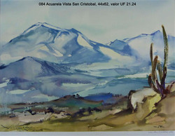 084 Acuarela Vista San Cristobal, 44x62,