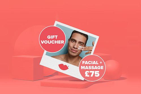 Gift Voucher for skin treatment with back, neck, shoulders massage