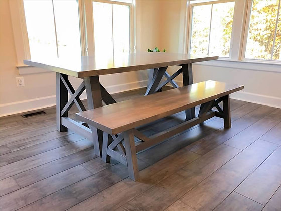 contemporary farmhouse dining table