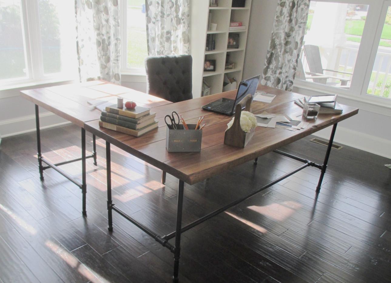Walnut Pipe Desk