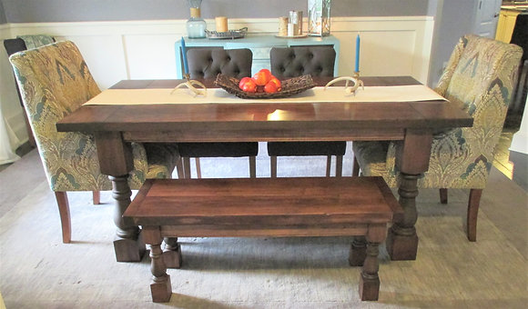 french country dining table + optional bench(es)
