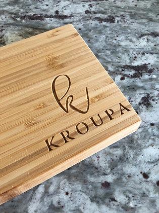custom initial mini cutting + charcuterie board