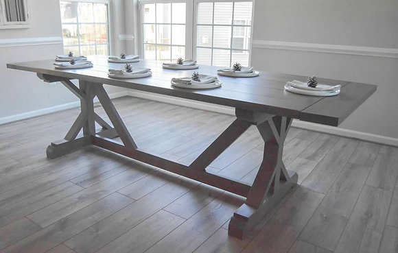 fancy farmhouse table + optional bench(es)