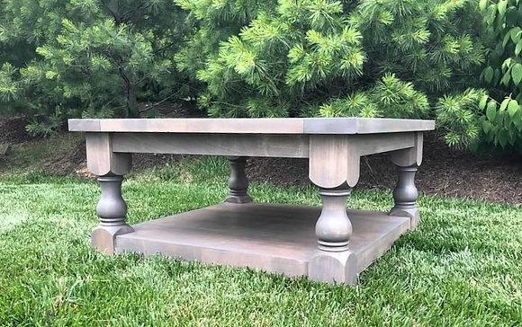 bordeaux turned leg coffee table