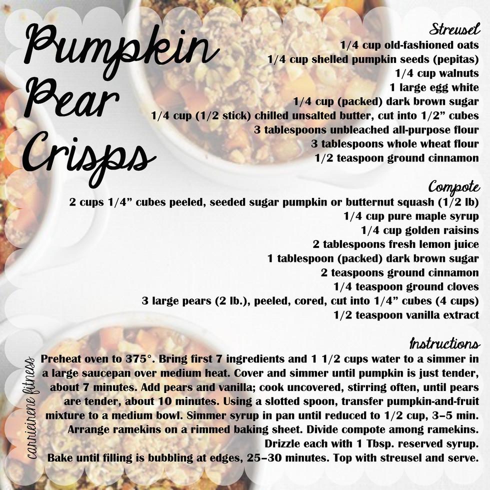 Pumpkin Pear Crisps