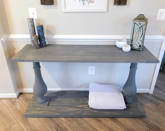 jolie turned leg console table
