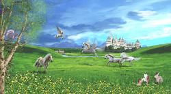 Horses, flying horses & pony