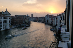 Venice canal at sunset