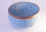 Wholey Bowl. Turquoise glaze clear band to rim