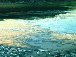 Impression of water near trees
