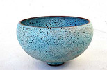 Bell bowl reactive turquoise Glaze