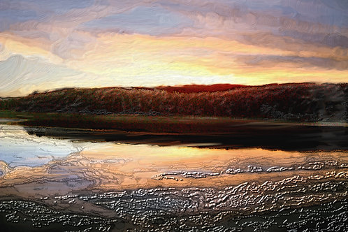 Sunset over Swinsty Reservoir- DOWNLOAD