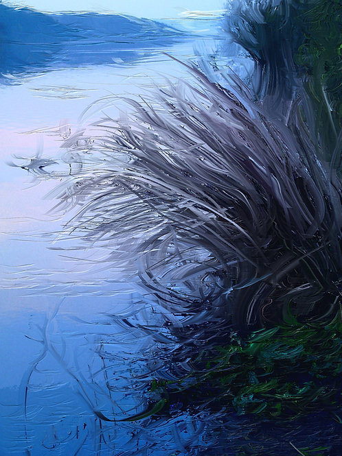 Digital painting: 'Lakeside reflections at dawn'  DOWNLOAD