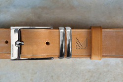Solid silver handmade mens belt