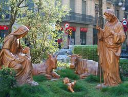 Street Nativity scene. Spain
