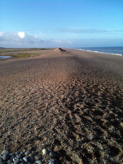 Pebble beach near Wells-by-the-Sea in North Norfolk