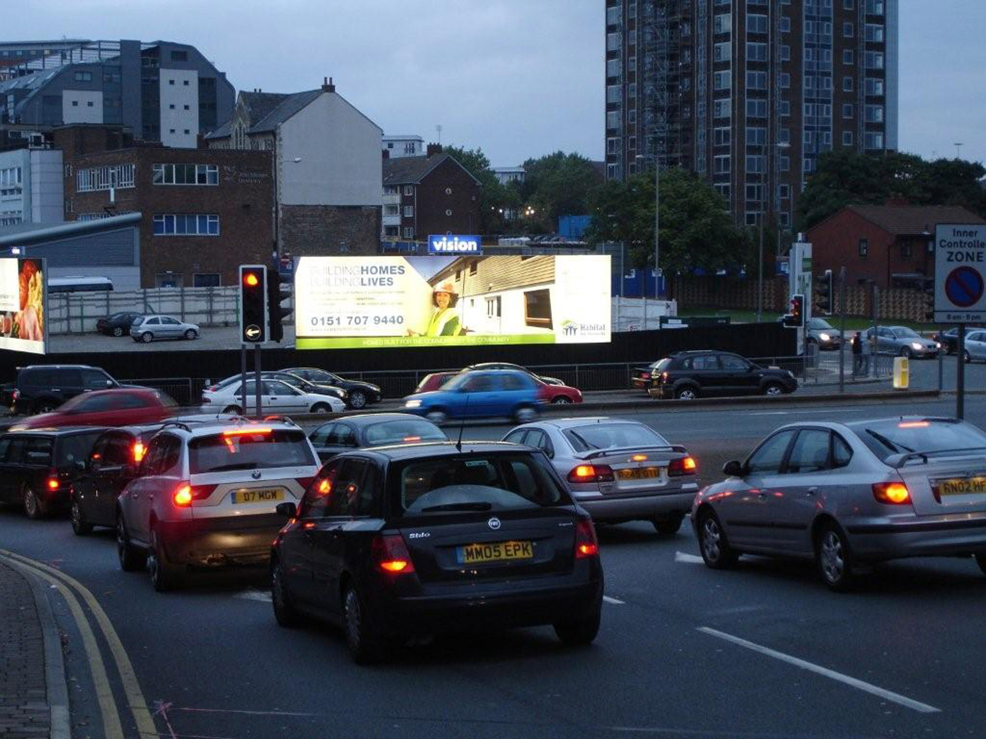 Illuminated ad unit in Manchester