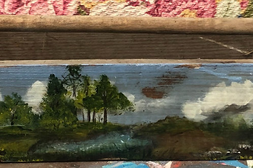 Hand Painted Vintage Tool Box