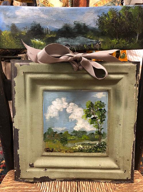 Scene on Vintage Tin