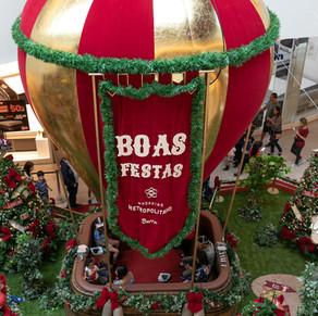 Shopping Metropolitano Barra traz Papai Noel viajante
