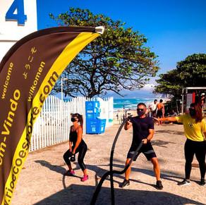 Tem aulão funcional gratuito nas praias da Barra e na Reserva