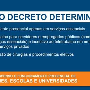Confira o novo decreto da prefeitura para frear o avanço da pandemia