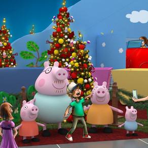 Tem Peppa Pig no Natal do Via Parque